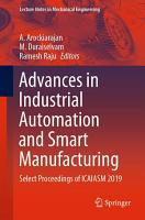 Advances in Industrial Automation and Smart Manufacturing PDF