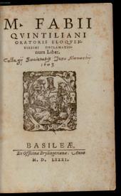 Oratoriarum institutionum libri duodecim