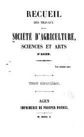 Recueil des Travaux: Volume5