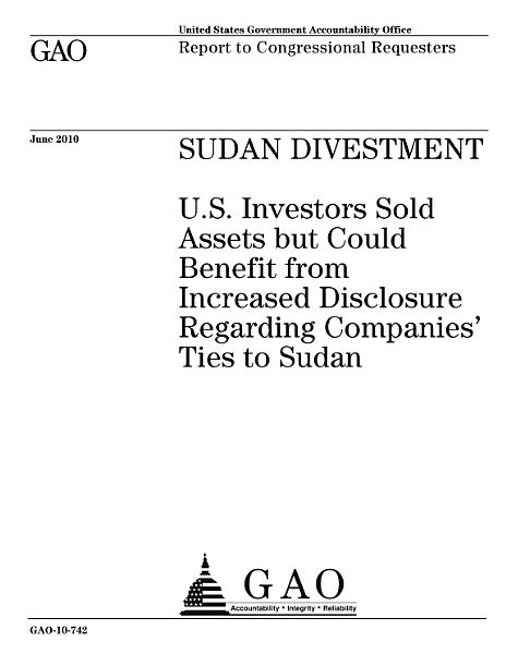Sudan Divestment PDF