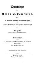 Christologie des Alten Testaments  oder  Die messianischen Verheissungen  weissagungen und Typen PDF