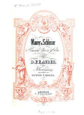 Maurer und Schlosser: kom. Oper in 3 Akten
