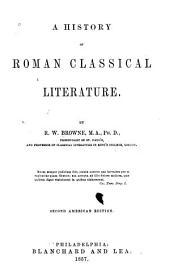 A History of Roman Classical Literature