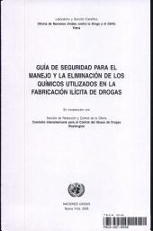 Guia De Seguridad Para El Manejo Y La Eliminacion De Los Quimicos Utilizados En La Fabricacion Ilicita De Drogas
