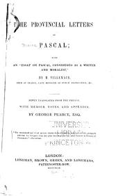 The Provincial Letters of Pascal
