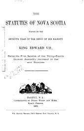 The Statutes of Nova Scotia