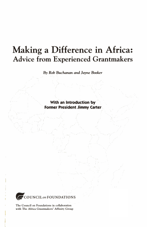 Making a Difference in Africa PDF