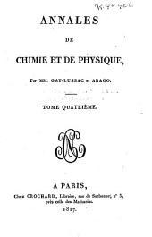 Annales de chimie et de physique: Volume4