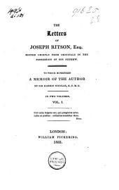 The Letters of Joseph Ritson, Esq