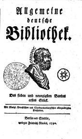 Allgemeine deutsche Bibliothek: Des sieben und neunzigsten Bandes erstes Stück - Des sieben und neunzigsten Bandes zweytes Stück, Band 97