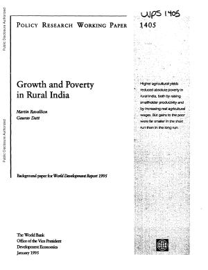Growth and Poverty in Rural India