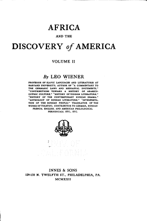 Africa and the Discovery of America  Foreword  Sources quoted  p  xi xxii  Cotton  The sovereign remedy  Bead money PDF