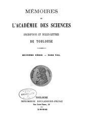 Mémoires de l'Académie des sciences, inscriptions et belles-lettres de Toulouse