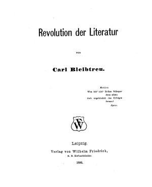 Revolution der Literatur PDF