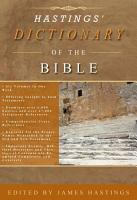 Hastings  Dictionary of the Bible PDF