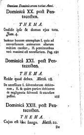 Concionator Extemporaneus In Dominicas Et Festa Per Annum: Pro Dominicis Per Annum. 1,1