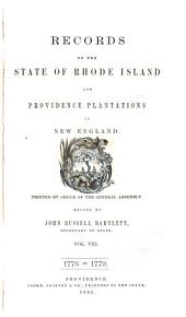 Records of the Colony of Rhode Island and Providence Plantations, in New England: 1776-1779