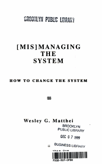 Mis Managing the System