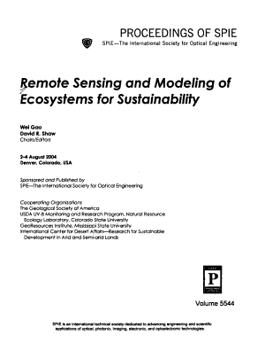 Remote Sensing and Modeling of Ecosystems for Sustainability PDF