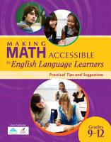 Making Math Accessible to English Language Learners  Grades 9 12  PDF