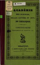 Constitutions, réglemens et statuts, etc