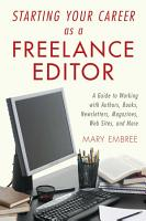 Starting Your Career as a Freelance Editor PDF