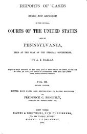 United States Reports: Cases Adjudged in the Supreme Court, Volume 3