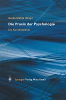 Die Praxis der Psychologie PDF