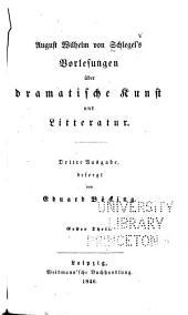 Vorlesungen über dramatische Kunst und Litteratur: Band 1