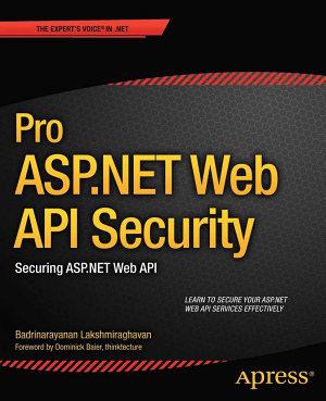Pro ASP NET Web API Security PDF