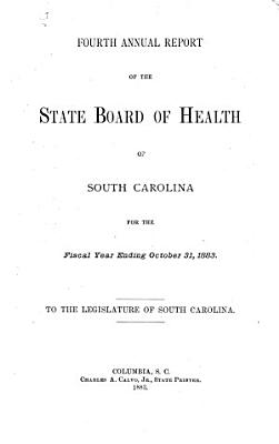 Annual Report of the State Board of Health of South Carolina PDF