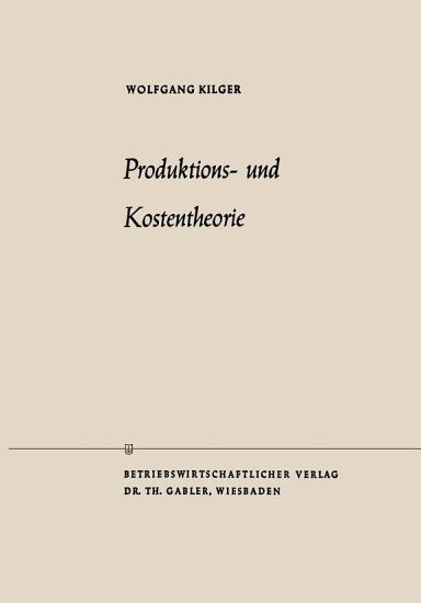 Produktions  und Kostentheorie PDF