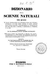 Dizionario delle scienze naturali nel quale si tratta metodicamente dei differenti esseri della natura, ... accompagnato da una biografia de' piu celebri naturalisti, opera utile ai medici, agli agricoltori, ai mercanti, agli artisti, ai manifattori, ...: 7: CLA-COR.