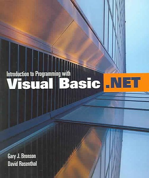 Introduction to Programming with Visual Basic  NET PDF