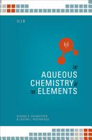 The Aqueous Chemistry of the Elements PDF