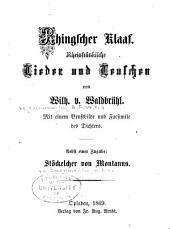 Rhingscher Klaaf: rheinfränkische Lieder und Leuschen