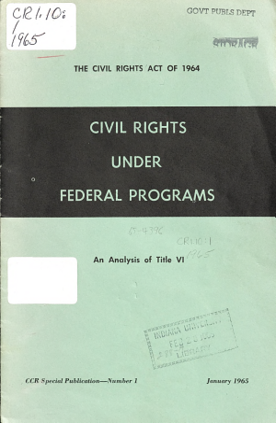 Civil Rights Under Federal Programs PDF