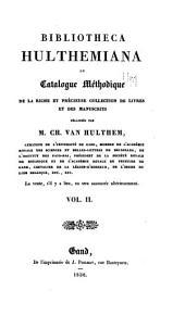 Bibliothecal Hulthamiana: Volume2
