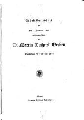 D. Martin Luthers Werke: Kritische Gesamtausgabe, Band 1