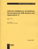 Airborne Intelligence  Surveillance  Reconnaissance  ISR  Systems and Applications VI PDF
