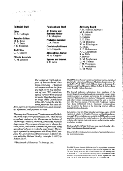 IBM Systems Journal PDF