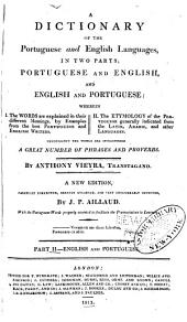 A dictionary of the Portuguese and English languages