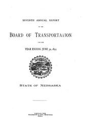 Annual Report of the Board of Transportation for the Year Ending ...: Volume 7, Part 1893