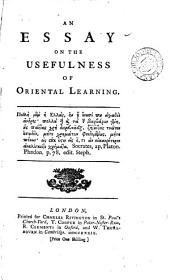 An Essay on the Usefulness of Oriental Learning
