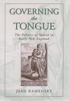 Governing the Tongue PDF