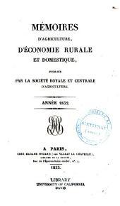 Mémoires d'agriculture, d'économie rurale et domestique