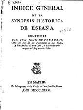 Índice general de la Synopsis histórica de España