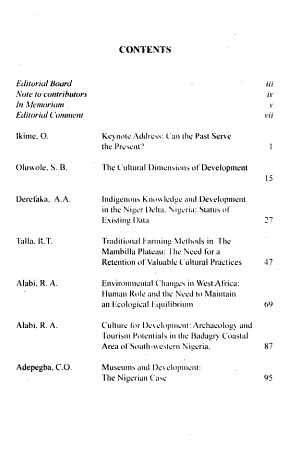 West African Journal of Archaeology