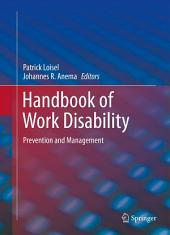 Handbook of Work Disability: Prevention and Management