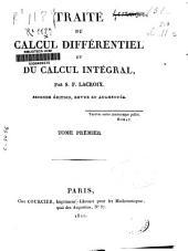 Traité du calcul différentiel et du calcul intégral: Volume1